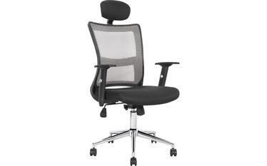 Kėdė Halmar Neon, juodos ir pilkos spalvų