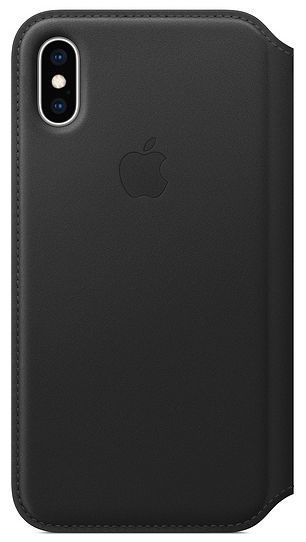 Apple Leather Folio Case For Apple iPhone XS Max Black