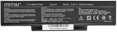 Mitsu Battery For Asus K72/K73/N73/X77 4400mAh