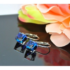 Vincento Earrings with Swarovski Elements Cube VE-2414