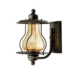 Tvirtinamas šviestuvas 009-WU, 60W, E27, IP43, matinė ruda