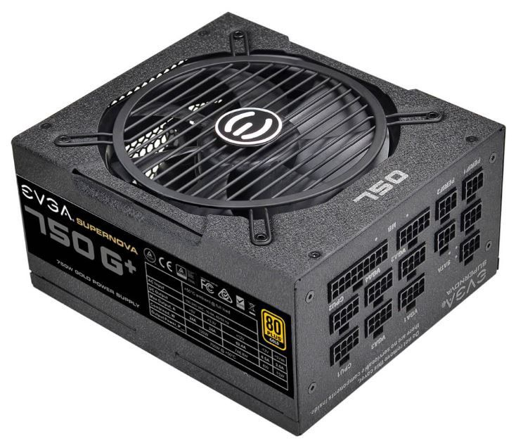 EVGA Power Supply PSU 750 G+750W 80 PLUS Gold