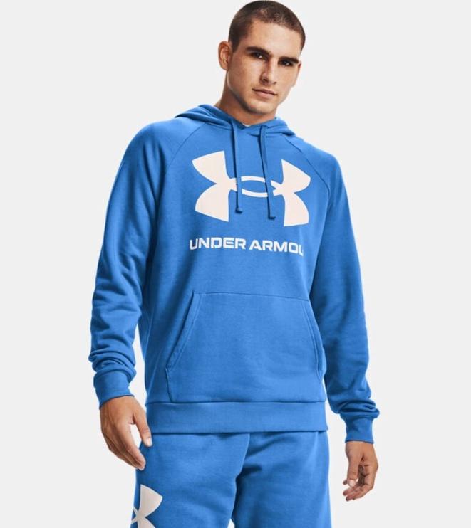 Under Armour Men's Rival Fleece Big Logo Hoodie 1357093 787 Blue XL