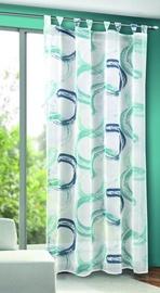 Дневной занавес Verners Circles, синий/зеленый, 1350 мм x 2450 мм