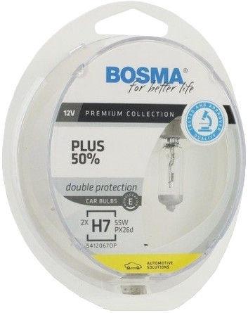 Автомобильная лампочка Bosma H7 12V 55W Plus 50% Light Bulb 2pcs