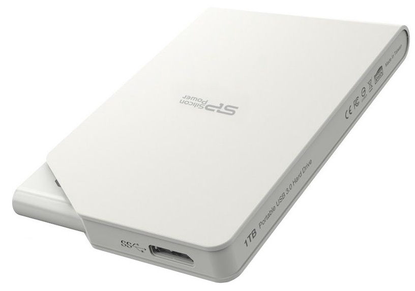 Жесткий диск Silicon Power Stream S03, HDD, 1 TB, белый