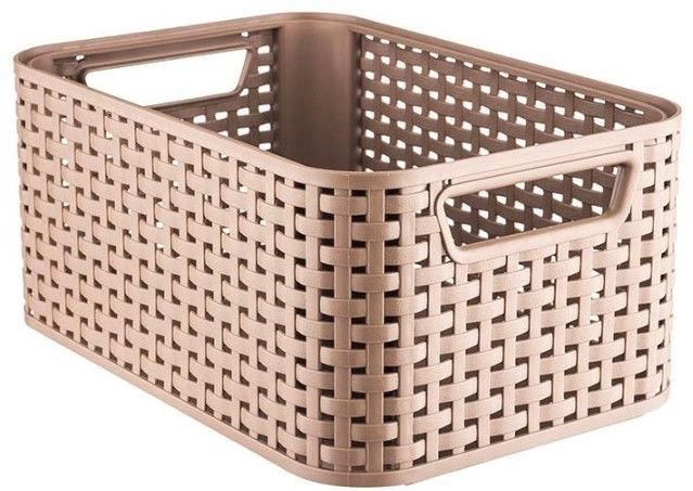 Curver Rattan Style Box M Light Brown