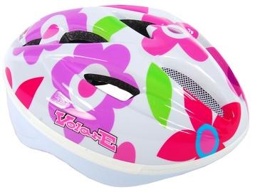 Шлем Volare Deluxe, белый/красный/розовый, 510 - 550 мм