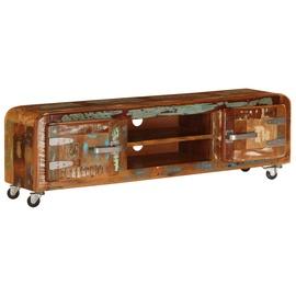 TV-laud VLX Solid Reclaimed Wood 247512, mitmevärviline, 300 mm x 1200 mm x 360 mm