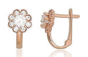 Diamond Sky 14K Red Gold Earrings Golden Flower XIX