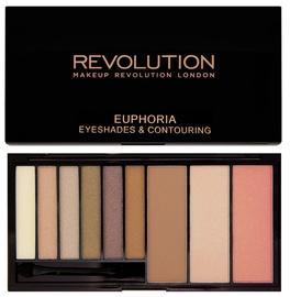 Makeup Revolution Euphoria Eyeshades & Contouring Palette 18g Bronzed