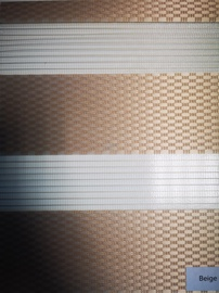 Veltņu aizkari Domoletti Rattan D&N, smilškrāsas, 1400 mm x 2300 mm