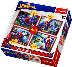 Trefl 4-in-1 Puzzle In Spider-Mans Web 35/48/54/70pcs 34293