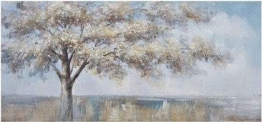 Home4you Print Picture Oil On Canvas 70x150cm Single Tree 83727