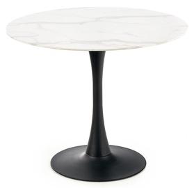 Обеденный стол Halmar, белый/черный, 900x900x720мм