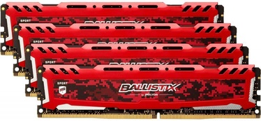 Crucial Ballistix Sport LT Red 64GB 3200MHz CL16 DDR4 KIT OF 4 BLS4K16G4D32AESE