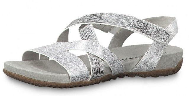 Basutės, Tamaris Sandal 1-1-28604-22 Silver Combination 39