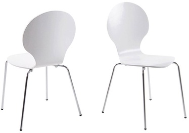 Home4you Chair Marcus White/Chrome