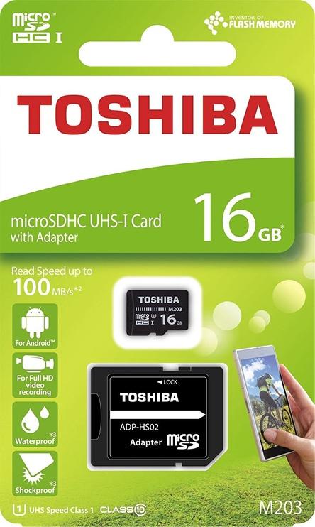 Toshiba M203 16GB microSDXC UHS-I Class 10 + SD Adapter