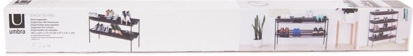 Apavu plaukts Umbra Shoesling, melna, 520x580x920 mm