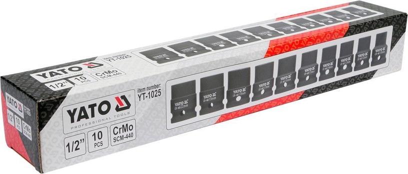 Yato YT-1025 Hexoganal Deep Impact Socket Set 1/2'' 10pcs