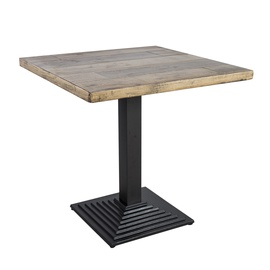 Home4you Raft Garden Table 75x75x74.5cm Faded Tree/Black