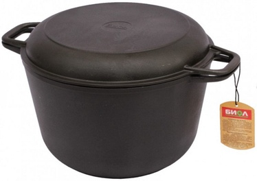Biol Casting Iron Casserole with Frying Lid SC008 22cm 3l