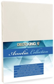 Palags DecoKing Amelia Cream, 180x200 cm, ar gumiju