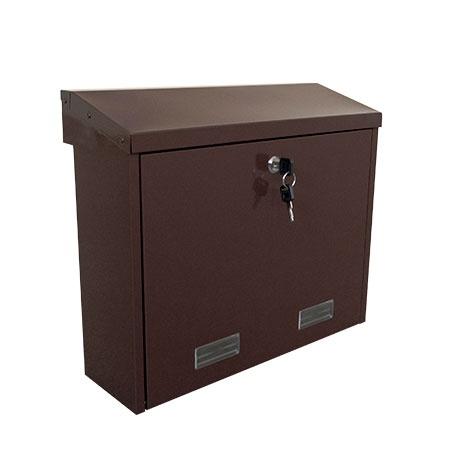 Pašto dėžutė Glori Ir Ko PD92M Brown, 410x120x350 mm