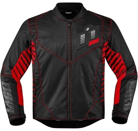Icon Wireform Jacket Black Red L
