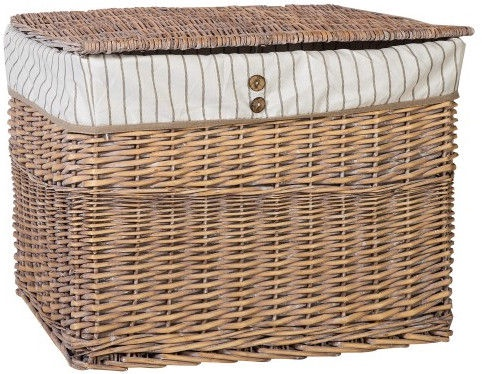 Home4you Basket Willi 1 With Lid 66x45xH49cm Light Brown