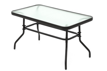 Садовый стол 4Living Venetsia Glass/Black, 50 x 90 x 50 см