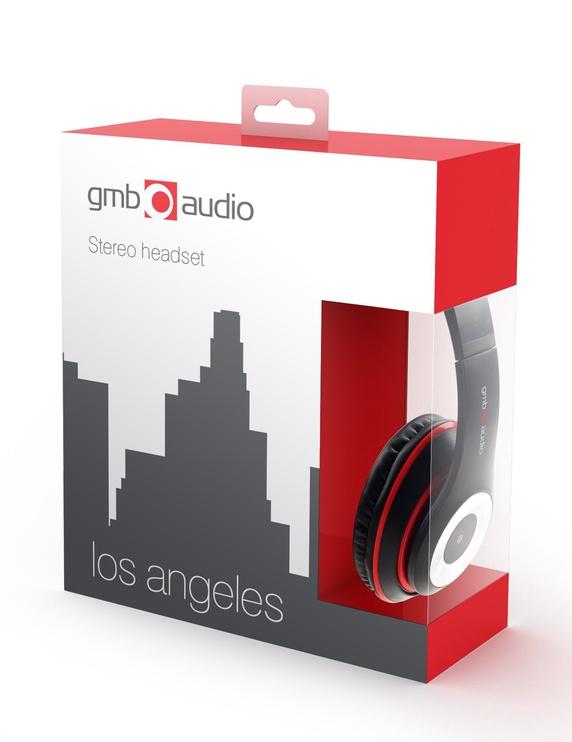Ausinės Gembird Los Angeles MHS-LAX Black