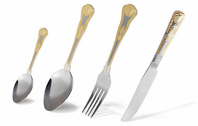 Fissman Rousse Cutlery Set Gold 24pcs