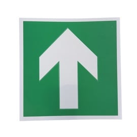 Direction Sign Sticker 135x135mm Green/White