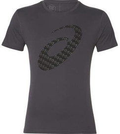 Asics Silver Graphic Short Sleeve T-Shirt 2011A328 020 Grey M