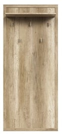 Black Red White Kaspian Wall Hanger Oak
