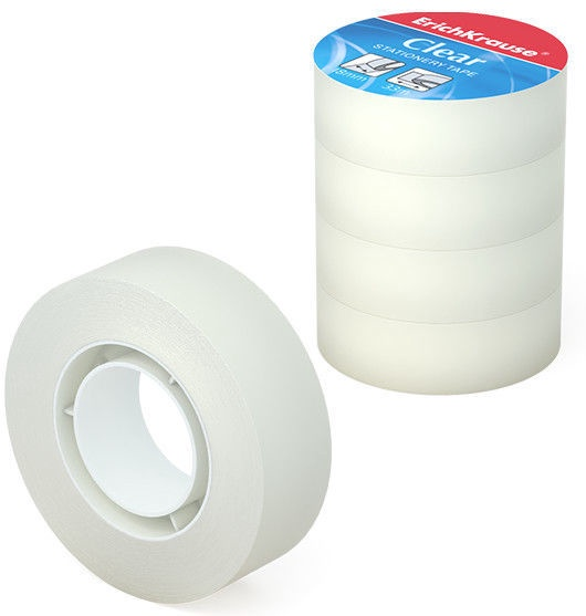 ErichKrause Tape Clear 18mmx33m 4pcs