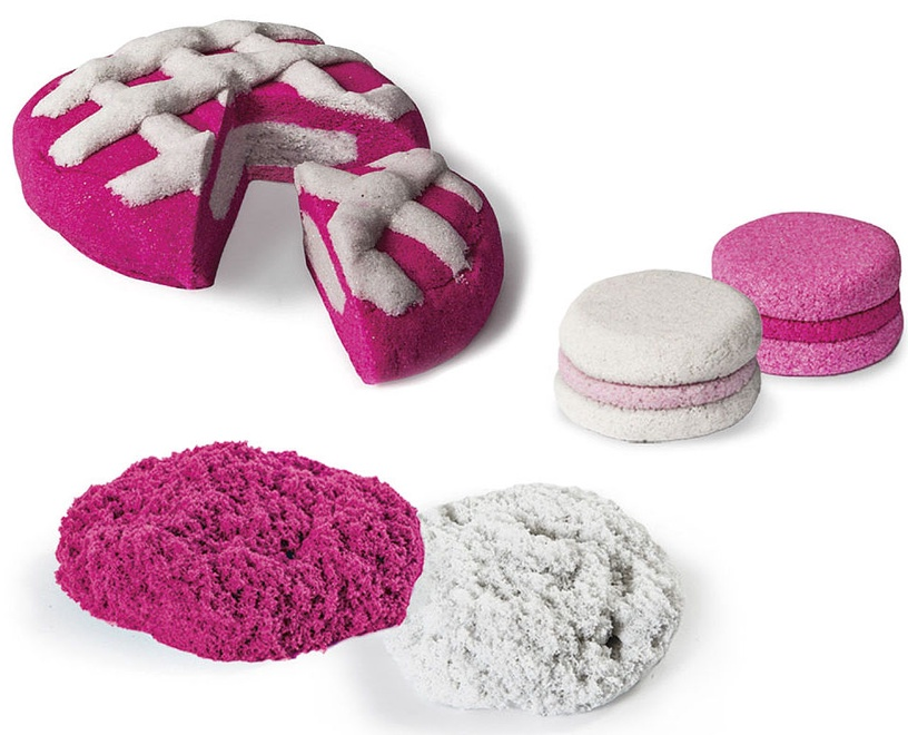 Spin Master Kinetic Sand Build 2 Color Pack Pink White