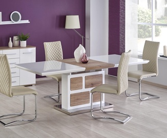 Halmar Dining Table Domus White San Remo Oak
