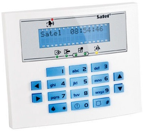 Satel INT-KLCDS-BL LCD Keypad for Integra Control Panels