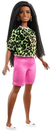 Mattel Barbie Fashionistas Doll Brunette Braids Wearing Neon Green Top GYB00