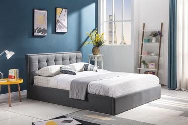 Кровать Halmar Padva 90, серый, 217x91 см, с решеткой