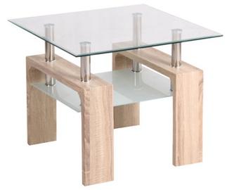 Kafijas galdiņš Signal Meble Modern Lisa D Sonoma Oak, 600x600x550 mm
