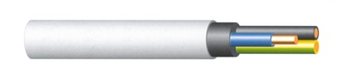 KAABEL KH05VV-U 3X1,5 VALGE (50)