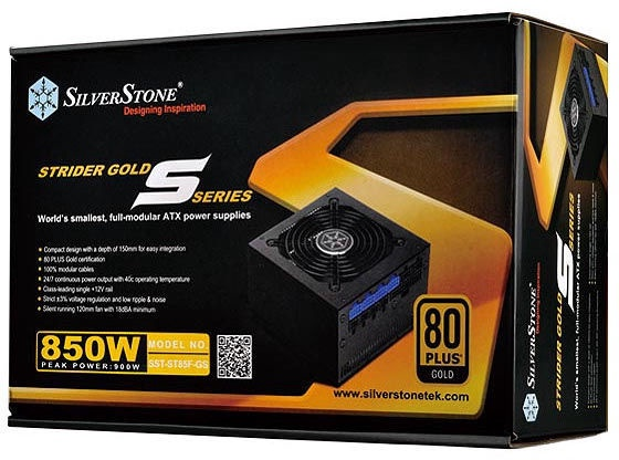 SilverStone PSU Strider 80 Plus Gold ST85F-GS V1.0 850W