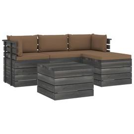 Välimööbli komplekt VLX Garden Pallet Lounge Set 3061811, hall/pruun, 1-3 istekohta