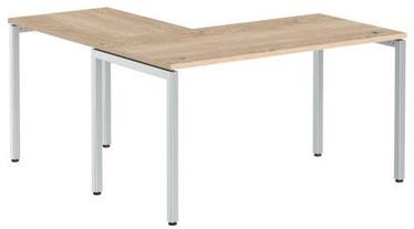 Skyland Corner Table XTEN-S XSCT 1415 Sonoma Oak/Aluminum