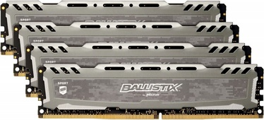 Crucial Ballistix Sport LT Gray 32GB 3200MHz CL16 DDR4 KIT OF 4 BLS4K8G4D32AESBK