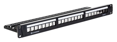 Linkbasic STP CAT 6a Patch Panel 24 Port Black